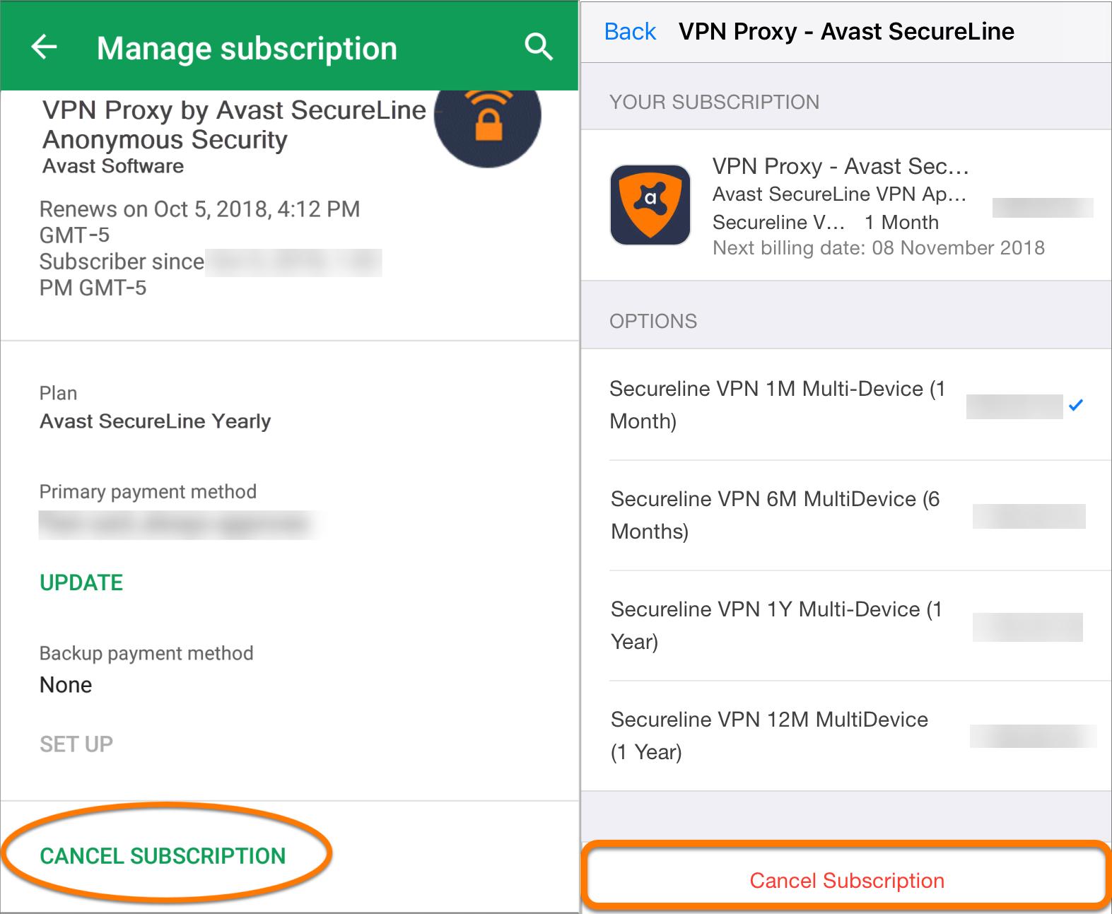avast secureline vpn logging